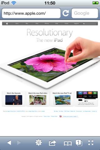 Safari Screen View